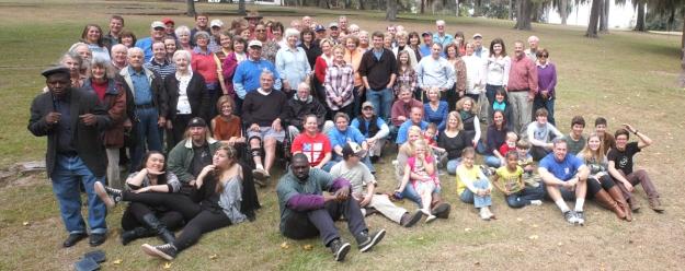 group photo at picnic